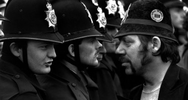 Don McPhee's picture from the 1984 Orgreave miner's strike