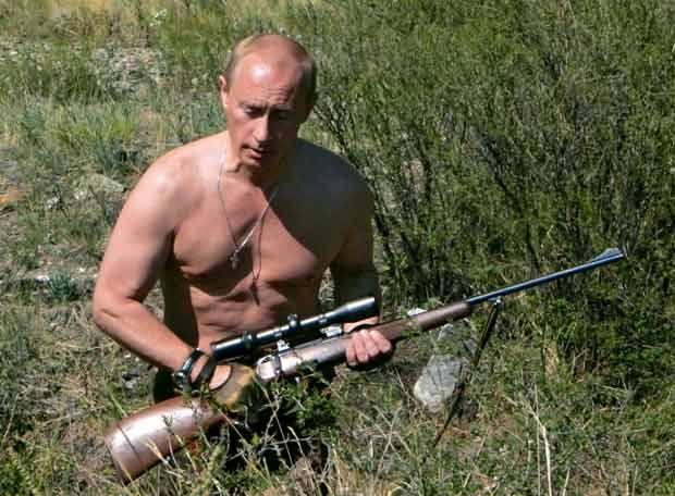 Putin de caza por Siberia